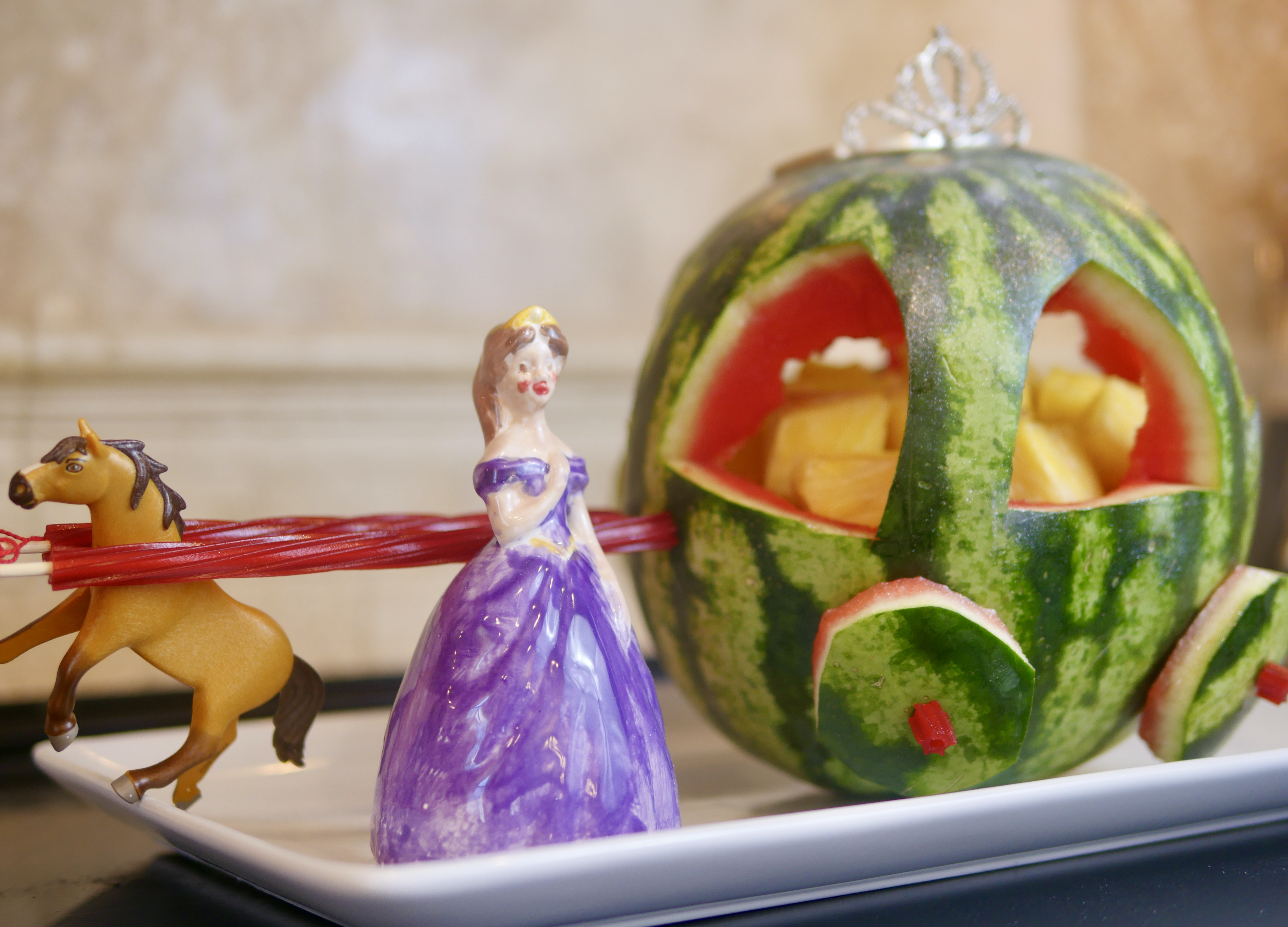 Fairy Godmother Watermelon Carriage Inspired by Disney+ 'Godmothered'