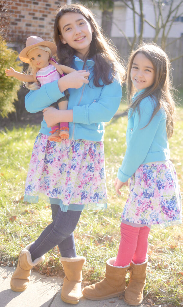 American Girl Truly Me Mixed Print Dress and Moto Jacket - American Girl Outfits for Tweens & Children - Enjoying Family Life