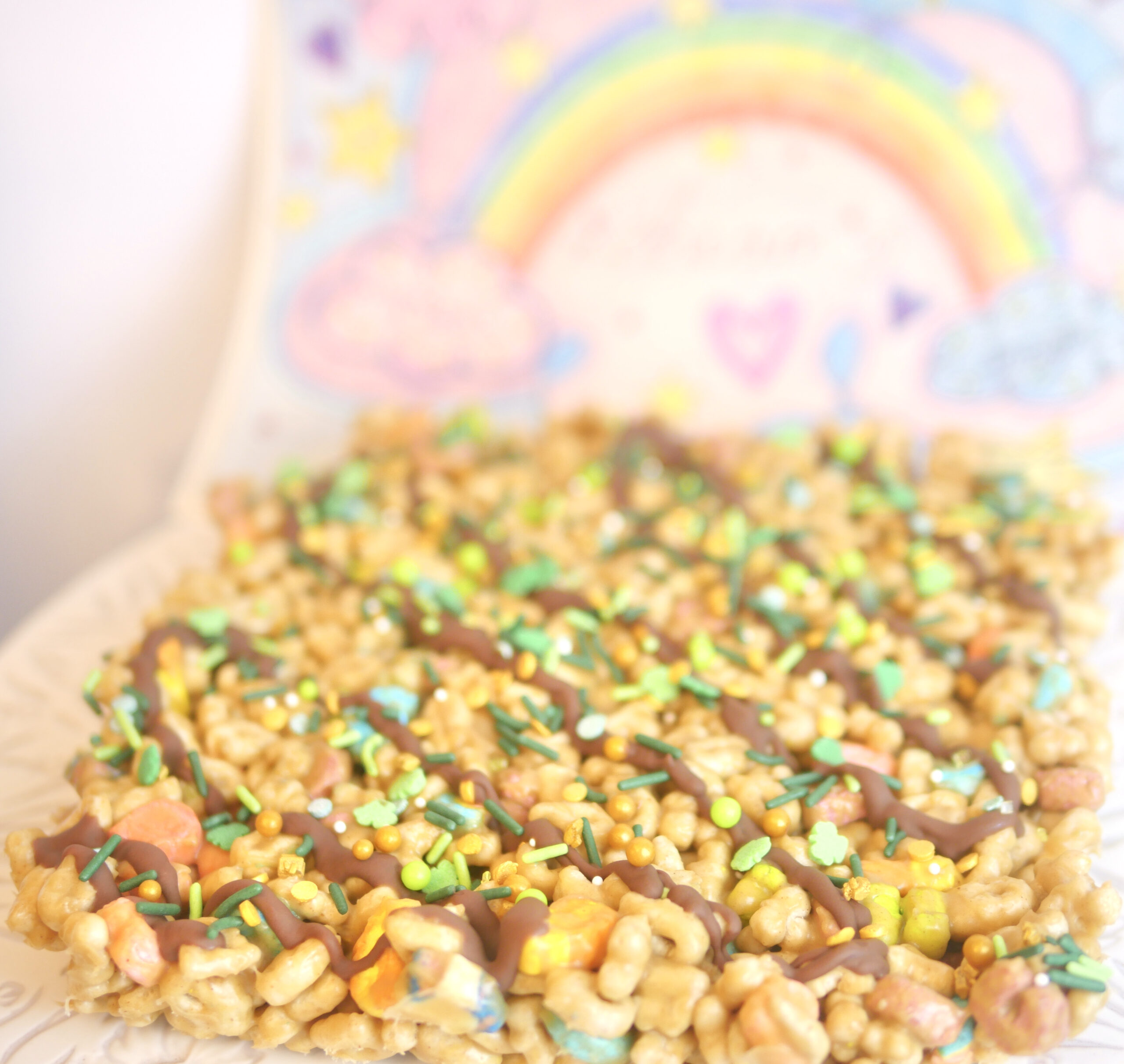 Lucky Charms Peanut Butter Snack Bars