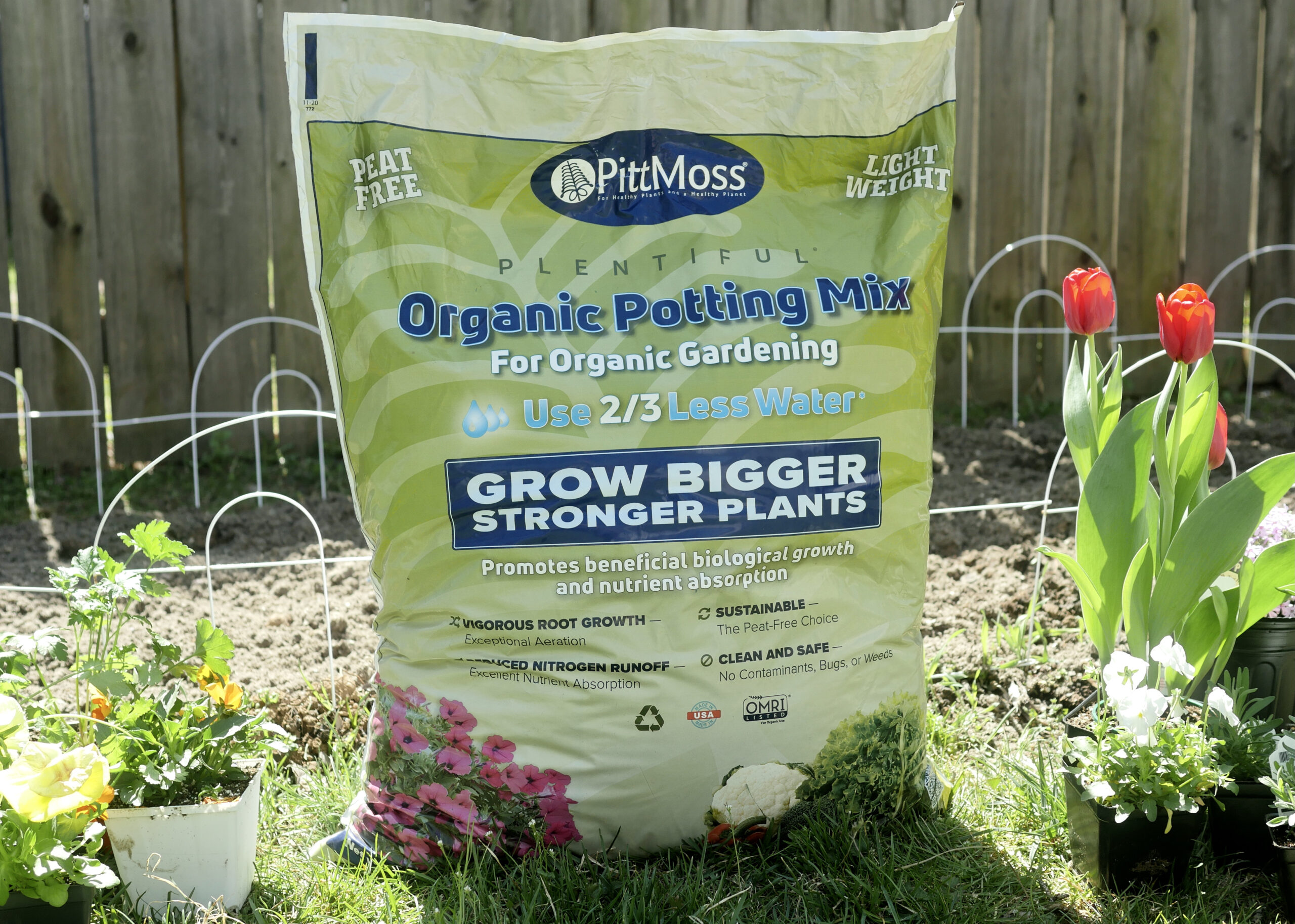 Setting up our Garden with PittMoss Organic Potting Mix