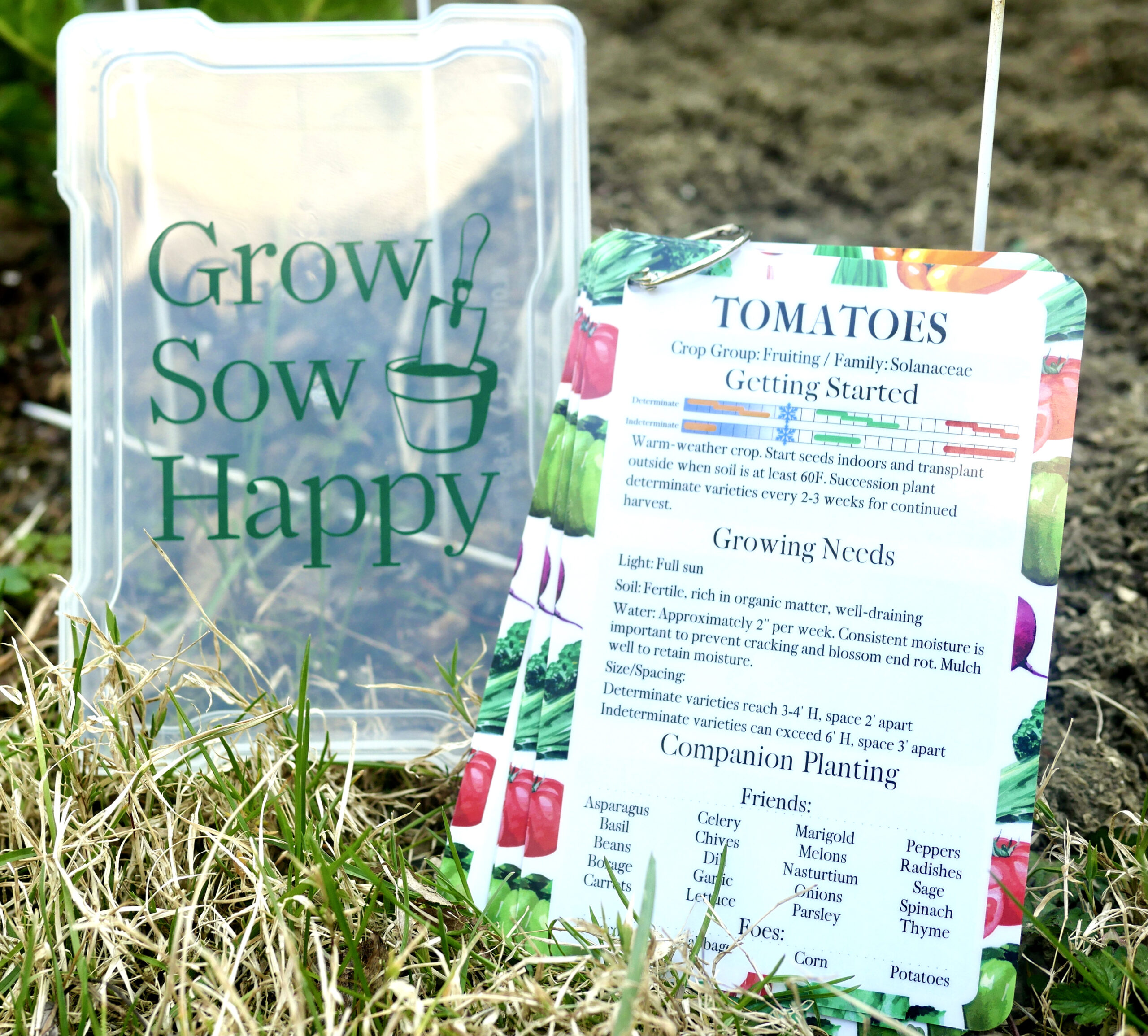 Grow Sow Happy gardening reference tools