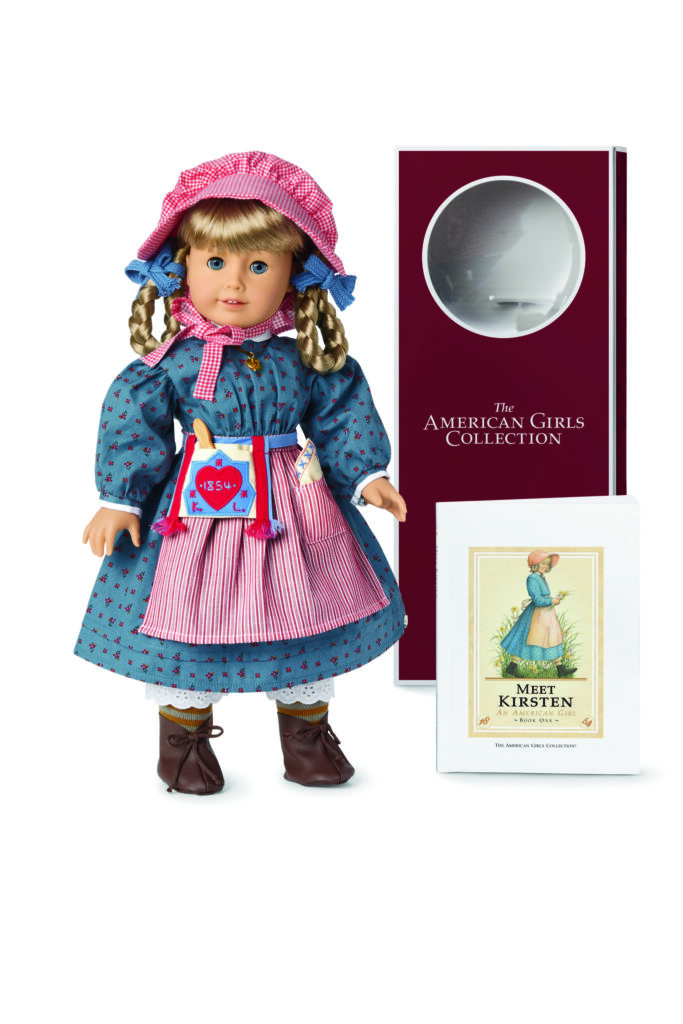 Kirsten Larson is one of six 35th anniversary collection dolls that are now available in packaging inspired by the original collection