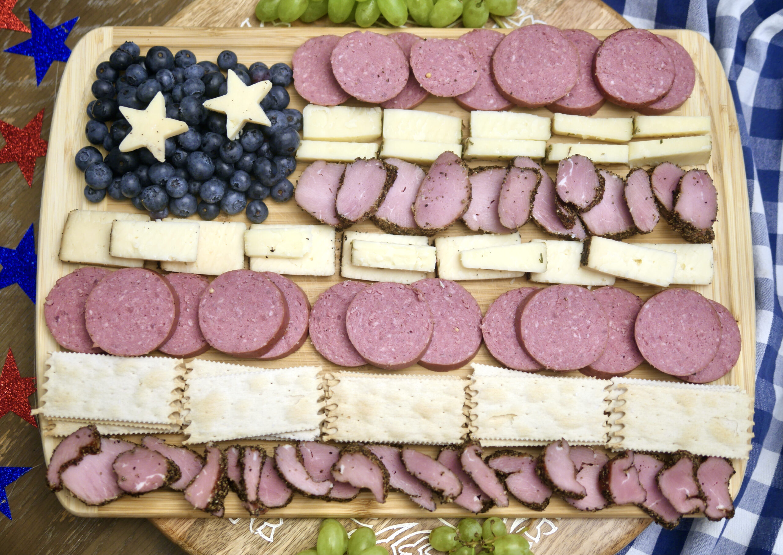 Stars and Stripes Charcuterie Spread