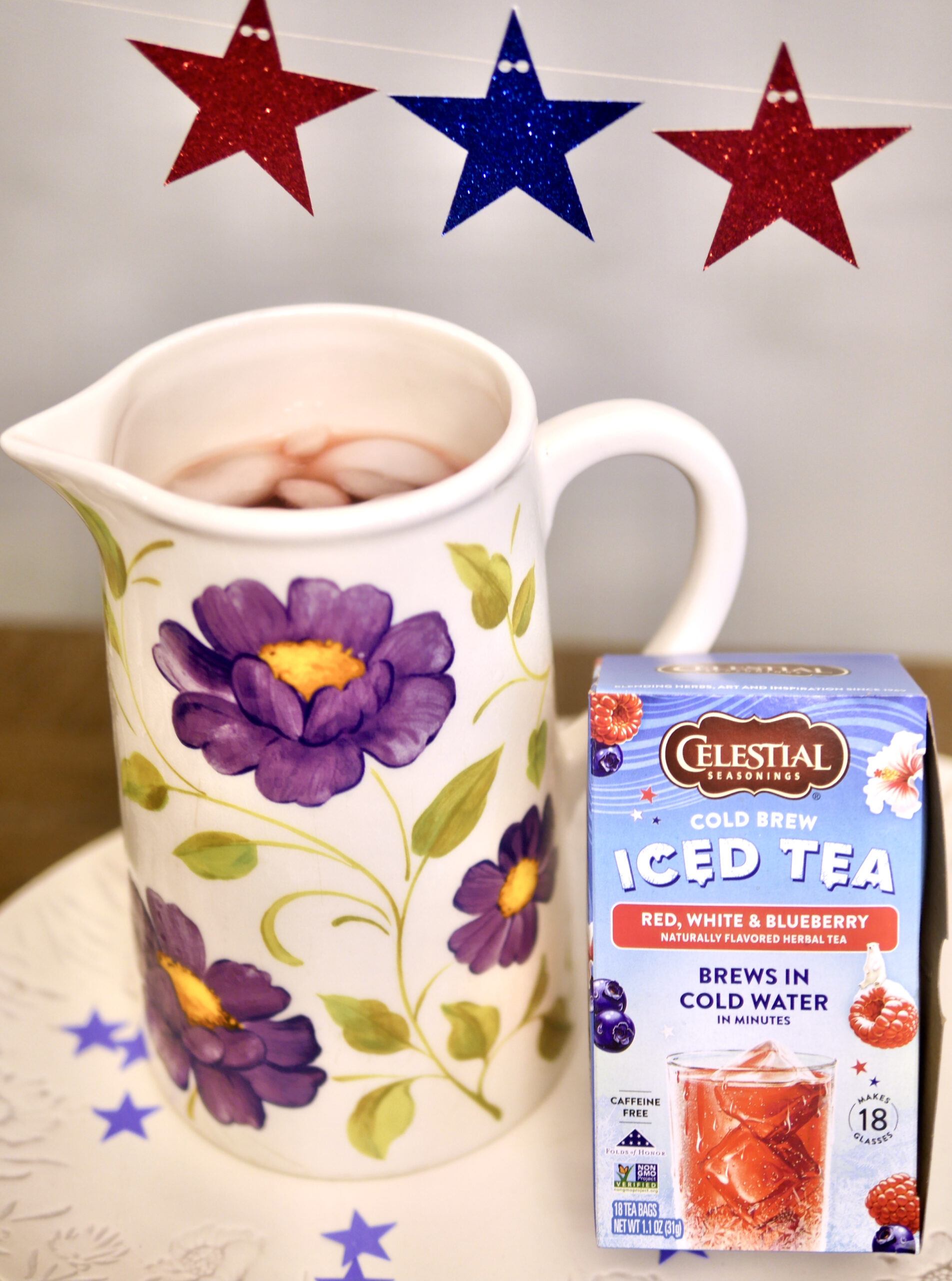 Celestial Seasonings Cold Brew Red, White, and Blueberry