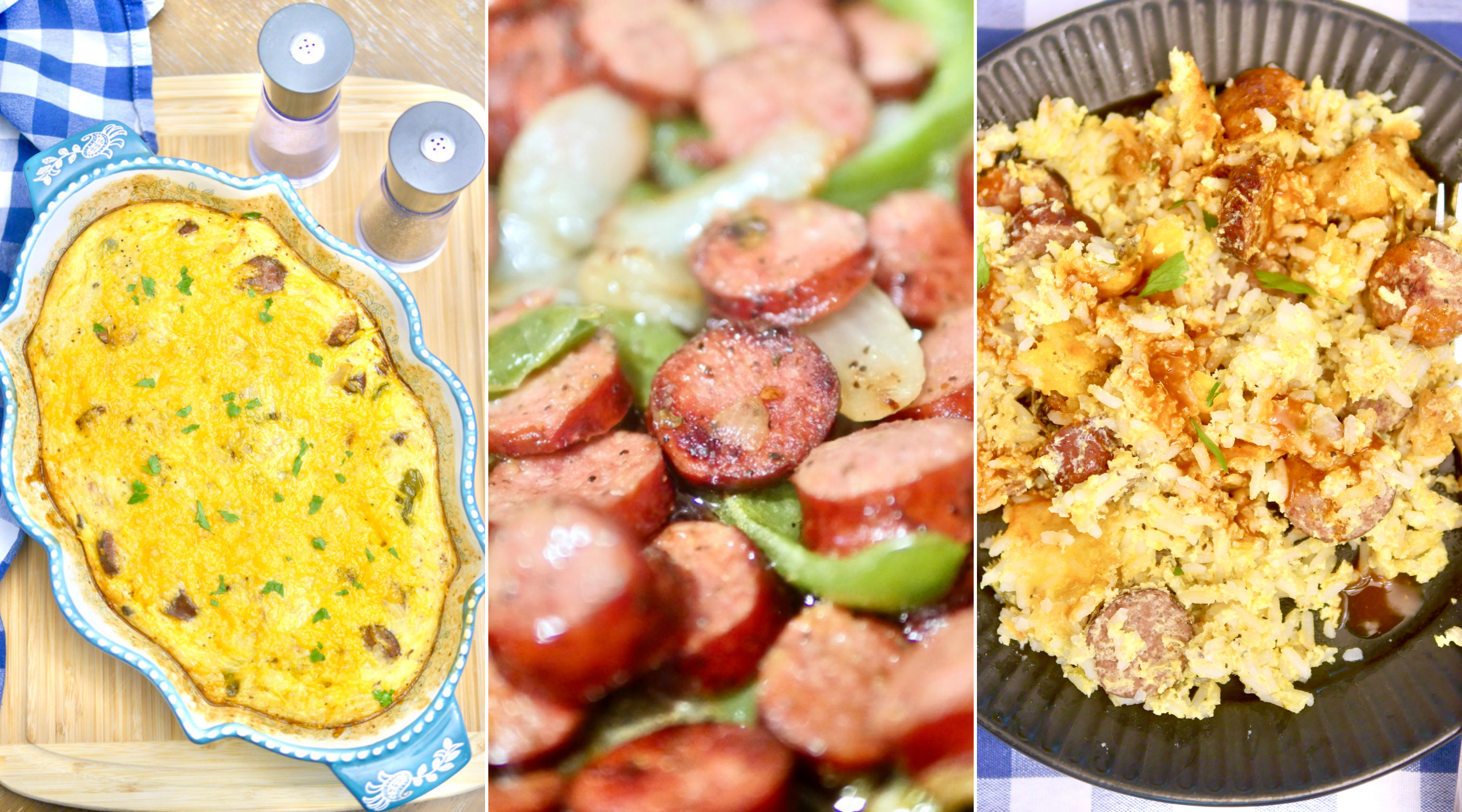 Sausage, Rice, and Peppers Breakfast Casserole Recipe